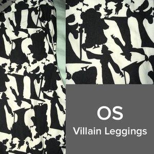 LULAROE VILLAIN silhouette OS LEGGINGS